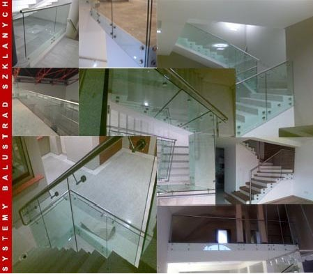 Glass railings self-supporting ES-GLASS-SUPPORTING