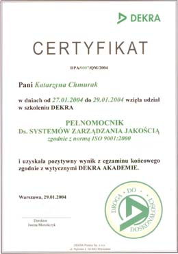 ISO 9001-2000 certified attorney