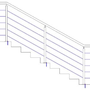 Balustrades ES-SENDER-CROSSING-SIDE-SATINES