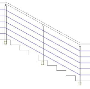 Balustrades ES-SENDER-SIDE-SATIN