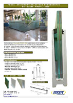 Folder glass railings ES-GLASS-PROFIL-2500
