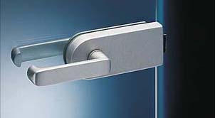 Glass door locks made of stainless steel polished. Application: glass fasade, boxes, glass, glass wall.