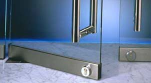 Handles for a glass door may be of various shapes: round tubes, square, flates. More than 20 kinds of components to door of every category.