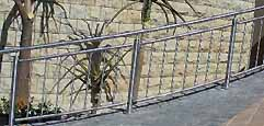 Railings with vertical bars welded uprights